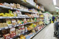 Supermarktbinnenland in Venetië Royalty-vrije Stock Foto's