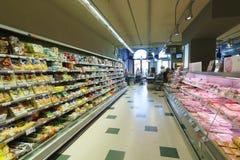 Supermarktbinnenland in Venetië Stock Afbeeldingen