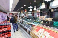 Supermarktbinnenland in Venetië Stock Fotografie