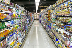 Supermarktgang Hong Kong stockbild