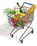 Supermarktkarretje Stock Fotografie