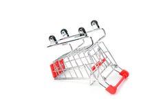 Supermarktkarretje Stock Foto