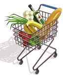 Supermarktlaufkatze Stockfotografie