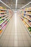 Supermarktperspektive stockbild