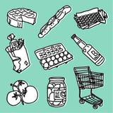 Supermarktset lizenzfreie abbildung