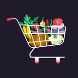 Supermarktwarenkorb Lizenzfreie Stockfotografie