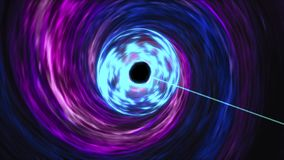 Supermassive black hole feasts on the hot accretion disk around Royalty Free Stock Image