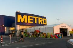 Supermercado cash&carry del metro Imágenes de archivo libres de regalías