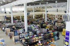 Supermercado, contadores Fotos de archivo