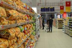 Supermercado de Hyperstar fotografía de archivo libre de regalías