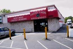Supermercado de las granjas del país imagen de archivo