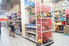 Supermercado de WAL-MART foto de archivo libre de regalías