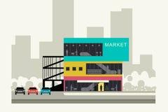 Supermercado en el borde de la carretera Foto de archivo libre de regalías