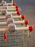 Supermercado Karts Imágenes de archivo libres de regalías