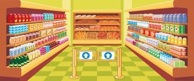 Supermercado. vector Fotografía de archivo libre de regalías