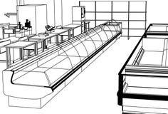 Supermercato illustrazione vettoriale