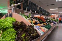 Supermercato in Andorra Immagini Stock