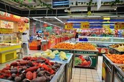 Supermercato cinese Fotografia Stock Libera da Diritti