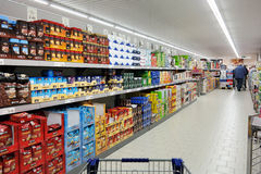 Supermercato di Aldi Immagini Stock Libere da Diritti