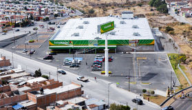 Supermercato di Bodega Aurrera, catena di Walmart Immagine Stock