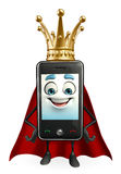 SuperMobile character with crown Stock Photo