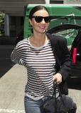 Supermodel Miranda Kerr wird an LOCKEREM gesehen Stockfoto