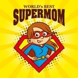 Supermom商标漫画人物超级英雄 库存照片