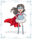 Supermom Character and Card Vector Design Royalty Free Stock Image