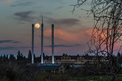 Supermond - Biegung, Oregon Lizenzfreies Stockfoto