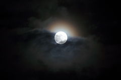 Supermoon Lizenzfreie Stockfotos