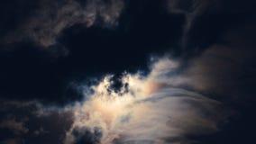 Supermoon achter wolken Stock Foto's