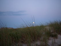 Supermoon as seen from  Fire Island , Long Island NY Royalty Free Stock Photography