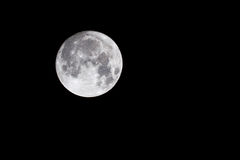 Supermoon. The Supermoon, as it was as close to earth which it hasn`t been for over 70 years Stock Photography