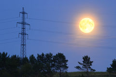 Supermoon 10 Augustus, 2014 Stock Afbeelding