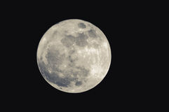 Supermoon full in march Royalty Free Stock Photo