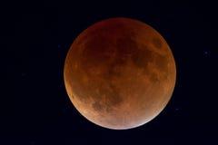 Supermoon månförmörkelse 'blodmåne', Royaltyfri Foto