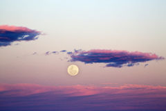 Supermoon Rise at Sunset Royalty Free Stock Photography