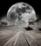 Supermoon Sky. Royalty Free Stock Photo