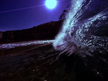Supermoon splash Stock Photography