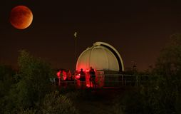 2015 Supermoon-Verduistering in Gilbert Rotary Centennial Observatory Royalty-vrije Stock Afbeelding