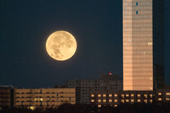 Supermoon visto in America Fotografia Stock