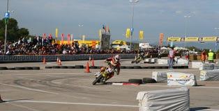 Supermotard amateur race Royalty Free Stock Photography