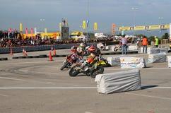 Supermotard amateur race Stock Photos