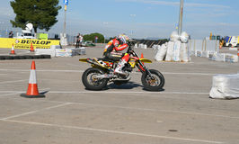 Supermotard amateur race Royalty Free Stock Images