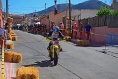 Supermoto摩托车种族 免版税库存图片
