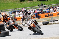supermoto гонки Стоковая Фотография RF