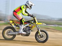 Supermoto Panning Royalty Free Stock Photography