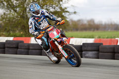 Supermoto rider Royalty Free Stock Photo