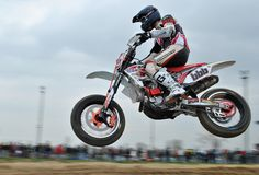 Supermoto Superjump 1 Royaltyfria Foton