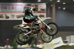 Supermotocross poussiéreux 2009 de Klatt Photos libres de droits